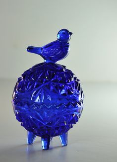 Vintage COBALT blue glass