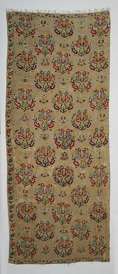 Fragment of a Cover  Object Name:     Fragment of a cover Date:     18th century Geography:     Turkey Culture:     Islamic Medium:     Silk on linen