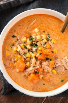 Slow Cooker Chicken and Sweet Potato Chowder   - CountryLiving.com