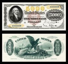 $5000 Dollar Bill 1878