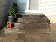 stamped concrete steps | Steps