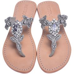 Mystique Sandals features unique hand crafted leather women's sandals that are embellished with jewelry Rhinestone Sandals, Beaded Sandals, Mystique Sandals, Floral Sandals, Jeweled Sandals, Leather Sandals Flat, Palm Beach Sandals, Casual Shoes, Jewels