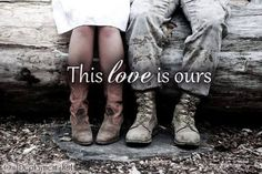 A country girl and her Army boy <3 Everything about this picture is just, perfect.