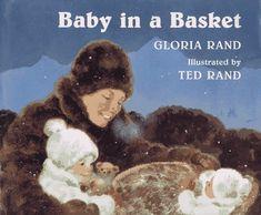 Baby in a Basket by Gloria Rand http://www.amazon.com/dp/0525652337/ref=cm_sw_r_pi_dp_6gCFvb1XTFHKS