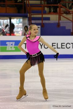 Elena Radionova - Pink Figure Skating / Ice Skating dress inspiration for Sk8 Gr8 Designs.