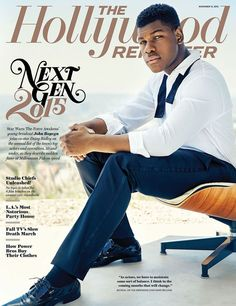John Boyega, photo by Miller Mobley, cover typography by Alexis Tyrsa | THR's Nov. 13, 2015 Issue: Next Gen 2015