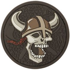 3D Morale Patch - Viking Skull. Shop at www.Maxpedition.com