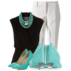 """Turquoise Toppers"" by stylesbyjoey on Polyvore"