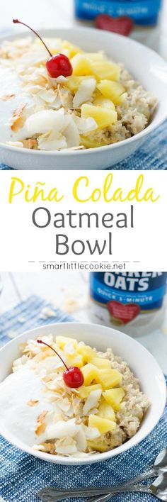 Fresh, tasty and with all the flavors of the Caribbean, this Piña Colada Oatmeal Bowl tastes just like the delicious beachy drink. #BringYourBestBowl #Walmart #ad