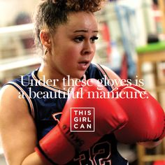 We love that Skyla does exercise her way (manicure included) #ThisGirlCan