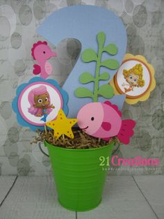 Bubble Guppies Centerpiece  Choose 2 characters by 21Creations, $20.00