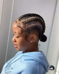 Cornrows With Box Braids, Feed In Braids Hairstyles, Braids Hairstyles Pictures, Black Girl Braided Hairstyles, Sleek Hairstyles, Baddie Hairstyles, Hair Pictures, Hair Ponytail Styles, Curly Hair Styles