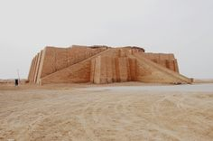 The Great Ziggurat of Ur. Ur was a Sumerian city-state dedicated to the God of the moon, Nanna. It dates back to c. 3800 BC. The Ziggurat construction was finished in the 21st century BC by King Shulgi.  The Sumerians were the first civilization in Mesopotamia (currently Iraq) and pioneered things such as irrigation, the wheel, and one of the earliest forms of writing called cuneiform.