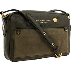 Marc by Marc Jacobs - Preppy Leather Camera Bag (Moss) - Bags and Luggage, $278.00 | www.findbuy.co #MarcbyMarcJacobs