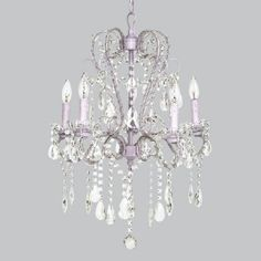 Superbe Whimsical Chandelier Lavender For Girls Rooms
