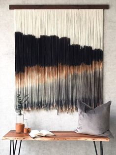 Your place to buy and sell all things handmade Yarn Wall Art, Diy Wall Art, Diy Art, Fabric Wall Art, Weaving Art, Tapestry Weaving, Wall Tapestry, Macrame Wall Hanging Diy, Hanging Wall Art