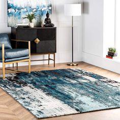3D Ink Modern Abstract Non-Slip Rug Door Mats Play Mats Hearth Floor Carpet 2