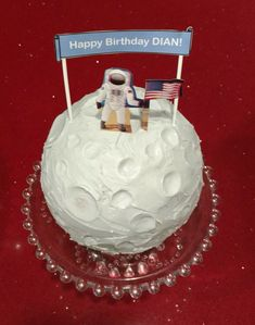 First Man On The Moon Birthday Cake Moon Shaper And A
