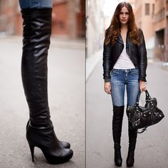 how to wear over the knee high boots - Google Search