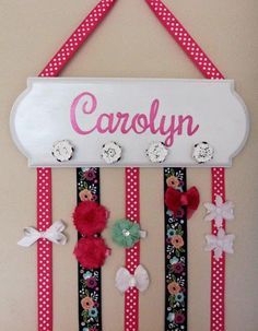 How to Make a Hair Bow Hanger