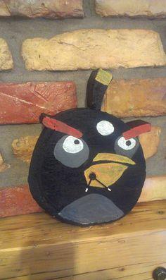 "Concrete clock ""Angry bird"""