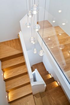 contemporary wood glass modern lighting