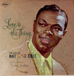 Glittered Nat King Cole Love Is The Thing Vinyl Record Album on Etsy, $75.00