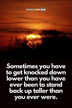Sometimes you have to get knocked down lower than you have ever been to stand back up taller than you ever were. #mondaymotivation #believeinyourself #successquotes #success #attitudequotes #awesomequotes #quoteoftheday #homebasedbusiness #happy #motivating #motivationalquote #amazinglife #mindsetforsuccess #dreamscometrue #positivechange #motivationalquotes #beyourself #dream #focusonthepositives #quoteforlife #successmore Home Based Business, Online Business, Attitude Quotes, Life Quotes, Build Your Own Website, Monday Motivation, Knock Knock, Success Quotes, Motivationalquotes