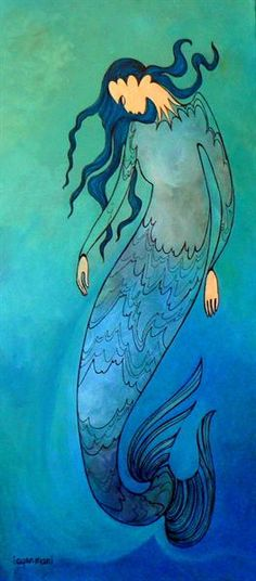 Spirit of the Water by Maxine Noel - Contemporary Canadian Native, Inuit Aboriginal Art - Bearclaw Gallery Native American Artists, Canadian Artists, Claudia Tremblay, Mermaid Song, Inspiration Art, Indigenous Art, Aboriginal Art, Native Art, First Nations