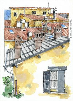 JR sketches http://sketchesjr.blogspot.com.ar/2013/04/italia-5-set-2012-17x24-pen-watercolor.html