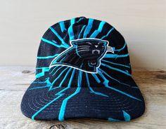 599597dce56 Rare Carolina PANTHERS Snapback Hat Vintage 90s STARTER Shockwave Shatter  Quake Logo Official Licensed NFL Football Cap Wool Ballcap