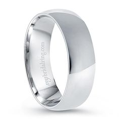 Simply Classic - Plain Comfort Fit Wedding Ring In 14K White Gold - OUR PRICE: $849.99 - http://www.mybridalring.com/Mens/plain-comfort-fit-wedding-ring-in-14k-white-gold/