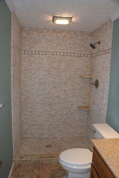 shower stalls for mobile homes custom tile shower enclosure custom tile bathroom shower - How To Remodel A Mobile Home Bathroom
