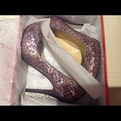 Gorgeous glittery heels for any special occasion. Super stylish pumps that will add an extra oomph to any outfit. Worn once. Ivanka Trump Shoes Heels