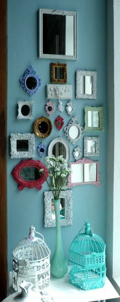 Top Tips: Large Wall Mirror Illusions wall mirror design half baths.Wall Mirror With Shelf Built Ins leaning wall mirror decor.Wall Mirror With Storage Drawers. Decoration Shabby, Home And Deco, My Room, Vintage Decor, Shabby Chic, Sweet Home, Gallery Wall, Room Decor, House Design