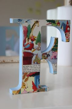 Handmade Vintage/Retro Storybook Wooden Letter by bellovesstore