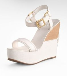 Tory Burch  Leather Carlee High Wedge Sandal