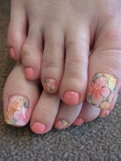 .... Oо ○ * Love ☆ Foot!!! * ○ оo. ... - toe nails design