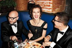Dinner with Dolce and Gabbana.