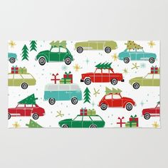 Christmas holiday vintage cars classic festive christmas tree snowflakes winter season