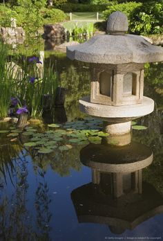 Australia, Queensland, Brisbane. Japanese garden in the Brisbane Botanic Gardens.