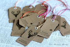 der kleine klecks Geschenkanhänger - Tags Stempelset Luftpost vom Nordpol - Charlie & Paulchen Anhängerstanzen Coupons - Kesi´art