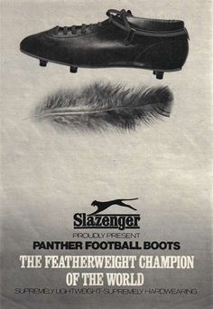 football boots vintage slazenger ads