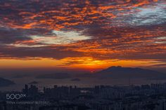 Popular on 500px : Sunset Victoria Harbour by carloyuen