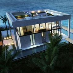 Beautiful modern beach home with roof terrace and solar system