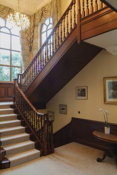 Timber frame stairway stairway pinterest stairways for Georgian staircase design