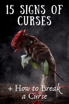 Bad things seem to be coming at you lately, are you really cursed? 15 signs of a curse PLUS how to break a curse and move on with your life! Curse Spells, Magick Spells, Love Spells, Hoodoo Spells, Wiccan Spell Book, Witch Spell, Spell Books, Spiritual Attack, Witchcraft For Beginners