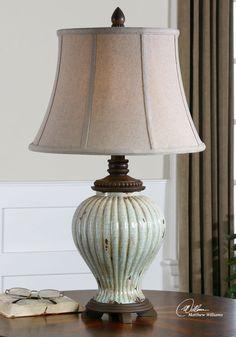 Uttermost Dernice Aged Ceramic Table Lamp 27477