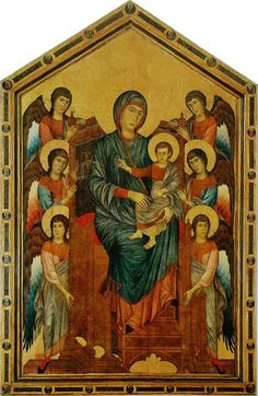 Cimabue, The Madonna and Child in Majesty Surrounded by Angels, c. 1280, Musée du Louvre, Paris