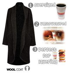 """""""Cold Weather Essentials: Wool Coat & Coffee"""" by musicfriend1 ❤ liked on Polyvore"""